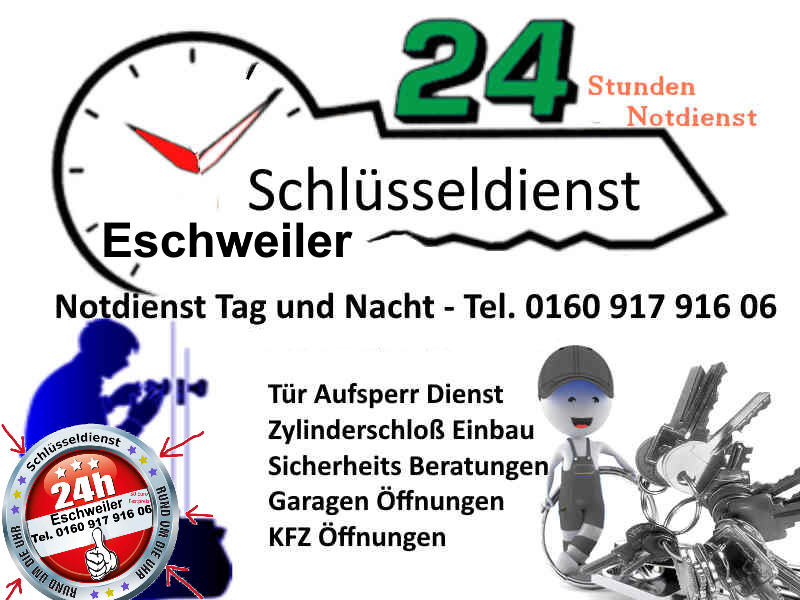 Schlüsseldienst Eschweiler Hastenrath Dürwiß Hehlrath Kinzweiler Neu Lohn Weisweiler zum 50 Euro Festpreis