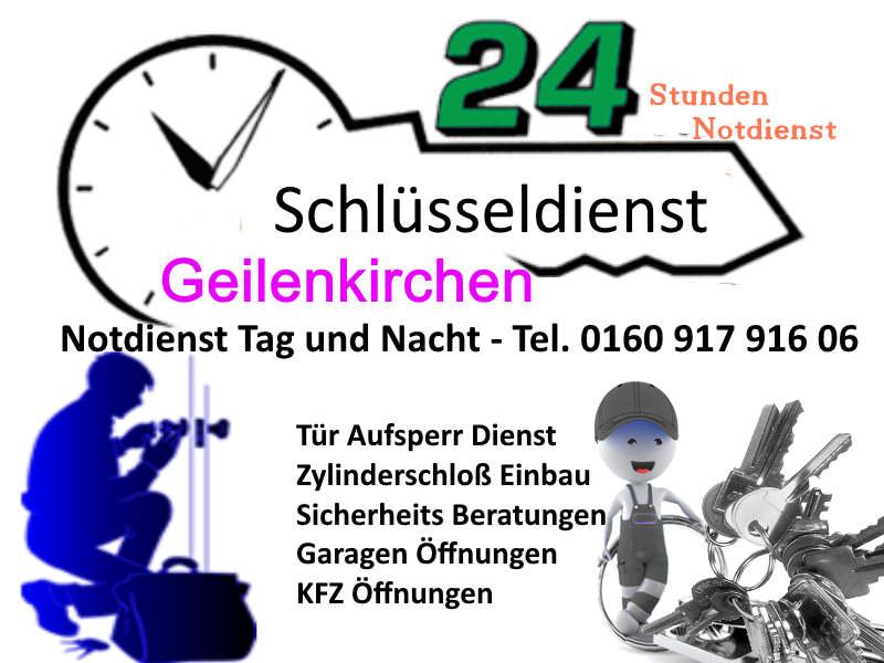 Schlüsseldienst Geilenkirchen Frelenberg Übach Palenberg Teveren zum Tag und Nacht Notdienst Festpreis von nur 50 Euro