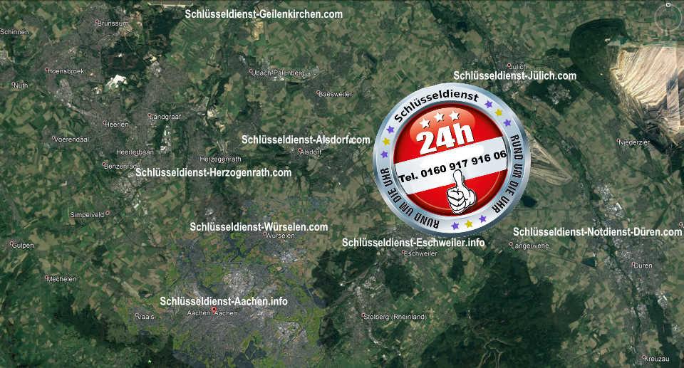 Schlüsseldienst Notdienst Karte für den Monteur Karl - Superschnell vor Ort