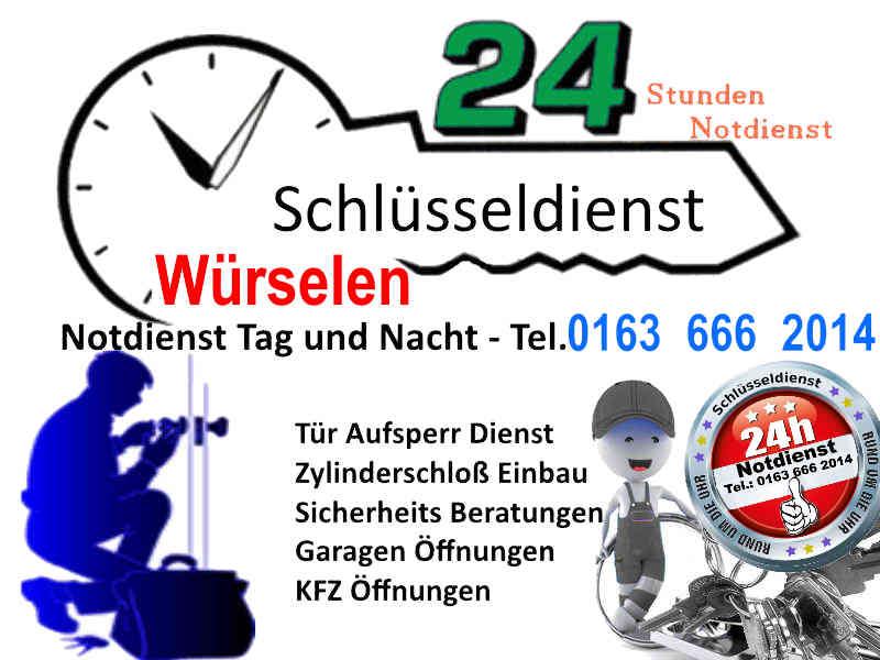 Schluesseldienst Wuerselen - 50 Euro Endpreis für Tür öffnen Tag und Nacht